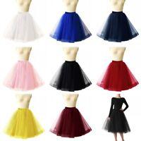 Women Adult Layers Short Tulle Tutu Skirt Petticoat Crinoline Wedding Bridal