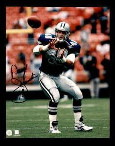 Daryl Johnston Hand Signed 8x10 Photo Autograph Cowboys