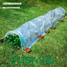 500x60x40cm Greenhouse Green House Tunnel Hot Plant House Transparent PE Cover