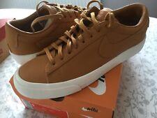NikeLab Blazer Studio Low UK 8 EU 42.5 Gold / Tan Brand New In Box RRP £90