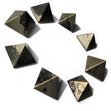 "Crystal Gemstone Pyrite Stone Pyramid (25mm - 1""), Reiki, and Feng Shui Decor"
