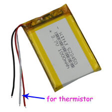 3.7V 1000 mAh 523450 3 wire thermistor Polymer Li Lithium Cell For GPS Tablet PC