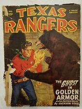 Texas Rangers vintage Pulp Magazine March 1949 advertising thrilling b-3