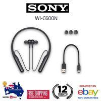 GENUINE Sony WI-C600N Wireless Noise Cancelling In-Ear Headphones Black