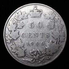 1900 CANADA 50 CENT HALF DOLLAR - VICTORIA - .925 SILVER