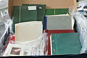 BOX WITH 9 WORLD STAMP COLLECTIONS SOLD AS ONE LARGE LOT - MINT AND USED