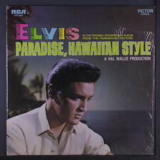 ELVIS PRESLEY: Paradise, Hawaiian Style LP (black label re, partial shrink,)