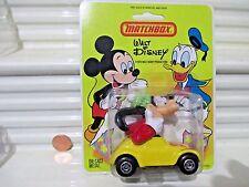 Matchbox 1979 Walt Disney WD3 GOOFY FLYING EARS Volkswagen Beetle Hong Kong CARD