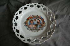 QUEEN MARY AND KING GEORGE V CORONATION SOUVENIR RIBBON PLATE 1911