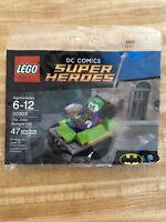 Lego Batman Joker Bumper Car DC minifigure Super Heroes Polybag 30303 RETIRED!