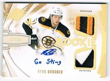 2013-14 SPx Rookie Spectrum Gold Dual Patch Autograph #170 Ryan Spooner 17/30