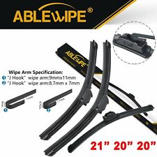 "ABLEWIPE Fit For SAAB 9-3 1999-2002 Quality Windshield Wiper Blades 21"" 20"" 20"""