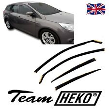 DFO15296 FORD FOCUS mk3 ESTATE 2011-2018 WIND DEFLECTORS 4pc HEKO TINTED