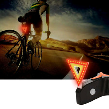 Rear Bike Tail Light 5 Modes Red & Yellow LEDs USB Rechargeable Cycling New UK