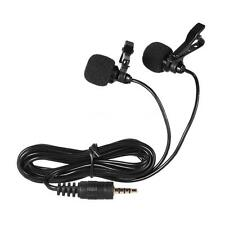 Clip Lapel Lavalier Microphone 3.5MM Mic For iPhone SmartPhone PC Recording L6X3