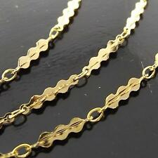 NECKLACE PENDANT CHAIN REAL 18K YELLOW G/F GOLD SOLID ANTIQUE DESIGN FS3A141