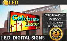 Led Digital Sign Board Outdoor P10 2 Sided Full Color Programmable