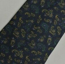 Blue Green Gold Paisley Silk Tie