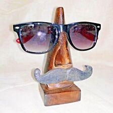 Specs Eyeglass Wooden Stand Handmade Antique Spectacle Holder Man Shaped