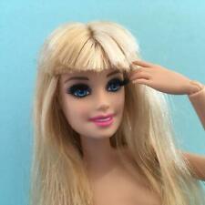 Modern Barbie Articulated Blonde Long Hair w/ Fringe Dark Eyelashes Fashion Doll
