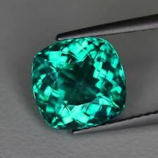 """4.01cts""""Madagascar"""" Neon Paraiba Blue Green""""Natural Apatite"""" Cushion Cut"""" PR1067"""