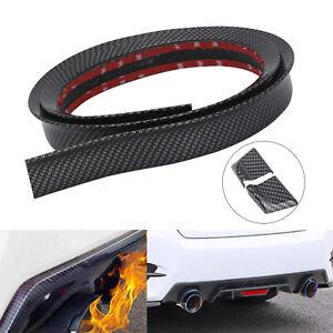 4.9ft DIY Universal Black PU Car Rear Roof Tail Trunk Spoiler Wing Lip Trim Kit