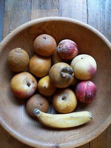 13 Pieces Vintage Stone Alabaster Fruit Apple Orange Pear Peach Banana