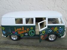 VW bus combi volkswagen love & peace 13cm,vert, neuf