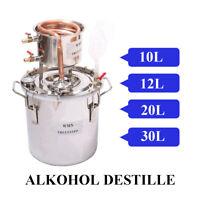 10-30L Destille Destillieranlage Edelstah Metallthermometer Alkohol Wasser Öle