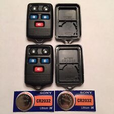 2 New 5 Button Keyless Remote Shell Cases + CR2032 Batteries Ford CWTWB1U511