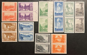 TDStamps: US Stamps Scott#756-765 (10) Unused NH/H NGAI 10 Line Pairs