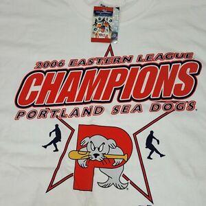 Portland Sea Dogs 2006 Eastern League Champions T-Shirt White Size 2XL NEW