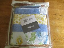 Valance  84 w  X 16 L  BLUE/ YELLOW white  FLORAL  BEAUTIFUL jcpenny