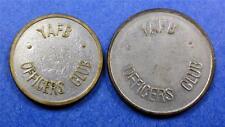 2 Military Trade Tokens (JAPAN YOKOTA AIR FORCE BASE) YAFB 5¢ & 25¢ ME1615