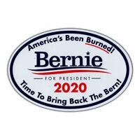 Oval Magnet - Bernie Sanders President 2020 - Magnetic Bumper Sticker