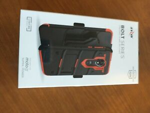 Moto g7 Supra Case, Zizo Bolt Series with Screen Protector Holster g7 Power