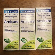 Lot Of 3 Boiron Arnicare Pain Relief Cream Homeopathic Medicine New Exp 10/21