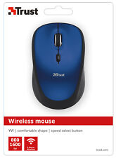 TRUST 19663 YVI BLUE WIRELESS 800/1600DPI MOUSE, SPEED BUTTON, STORABLE RECEIVER