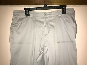 GREAT RIDERS BY LEE LIGHT GRAY COTTON JEANS PANTS Size 12M ANKLE ZIPPER