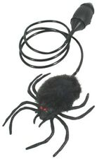 BLACK JUMPING SPIDER Big Bug Fake Prank Joke Gag Halloween Jump Hopping Furry