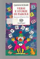 GIANNI RODARI VERSI E STORIE DI PAROLE EINAUDI 1995 PRIMA EDIZIONE ILL. ALTAN
