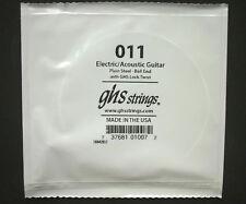 GHS einzel-saite Corde de guitare électrique 011