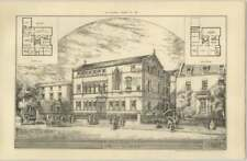 1897 French Convent Bow Road Jh Eastwood Architect Design Plan