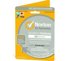 Norton Security Premium 2020/2021 10 Devices + Backup 1 Year - Fast Del Email