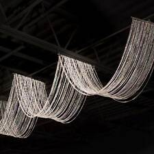 Crystal Beaded Ceiling Drape strands of clear crystals beads Venue decorations