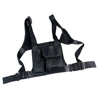 Universal Hands Free Chest Harness Bag Holster Pouch for Two Way Radio
