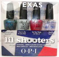 OPI Texas Lil Shooters Mini Nail Lacquers Polish 4pc Set 1/8oz NEW fast shipping