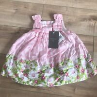 Mayoral NWT Baby Girl Daisy Floral Check Bows Dress 9 Months