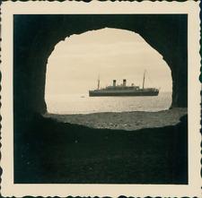 Espagne, La Palma, Vue sur le Monte Rosa Vintage silver print,. Photographie p