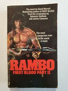 Rambo First Blood Part II Paperback Book by David Morrell 1985 1st Jove Edition